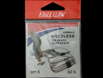 EAGLE CLAW 449W WEEDLESS BAITHOLDER HOOKS walleye snells lindy rigs walleye spinners huge walleye
