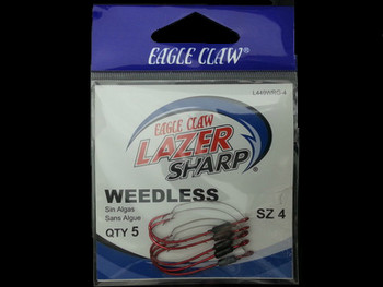 EAGLE CLAW L449WR WEEDLESS LAZER SHARP BAITHOLDER HOOKS walleye snells lindy rigs walleye spinners huge walleye