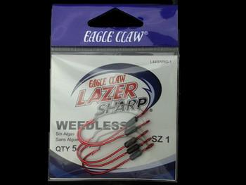 EAGLE CLAW L449WR WEEDLESS LAZER SHARP BAITHOLDER HOOKS walleye snells lindy rigs walleye spinners huge walleye