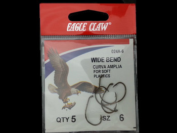 EAGLE CLAW 024A WIDE BEND BAITHOLDER HOOK great for huge walleye, Lindy rigs walleye harnesses snells