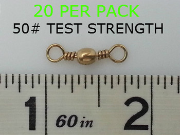 #7 BARREL SWIVELS BRASS