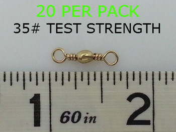 #10 BARREL SWIVELS BRASS