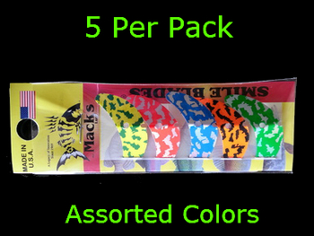 "Macks Smile Blade 1.5"" assorted tiger for walleye harnesses"