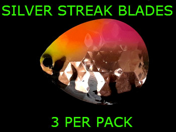 Silver Streak Blades Colorado #6 Tutti Fruity for walleye lindy rigs