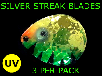 Silver Streak Blades Colorado #6 Anti Perch for walleye lindy rigs