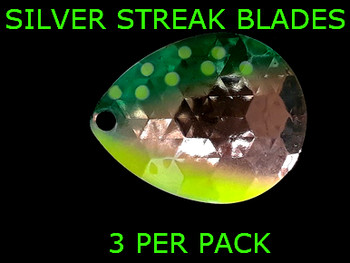 Silver Streak Blades Colorado #6 for walleye rigs