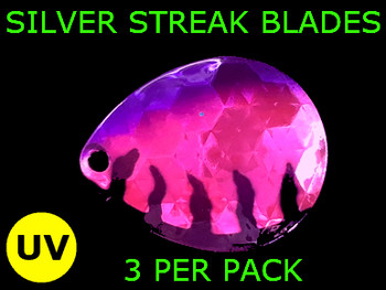 Silver Streak Blades Colorado #6  for walleye spinners