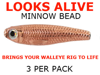 Looks Alive Minnow lure Beads METALLIC COPPER