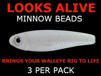 fishing lure bead Looks Alive Minnow Beads PURE WHITE