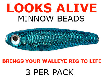 live bait rig Looks Alive Minnow Beads METALLIC BLUE