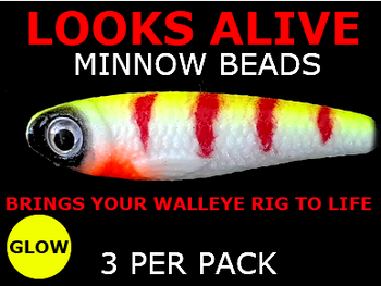 plastic lure beads Looks Alive Minnow Beads GLOW DEVILS PERCH