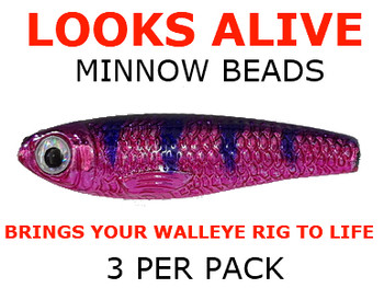 Looks Alive Minnow Beads METALLIC PINK/PURPLE PEOPLE EATER