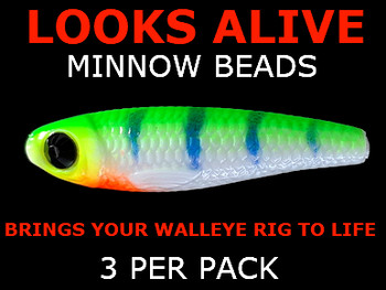 Looks Alive Minnow Beads ERIEDESCENT w/BLACK CRYSTAL EYE
