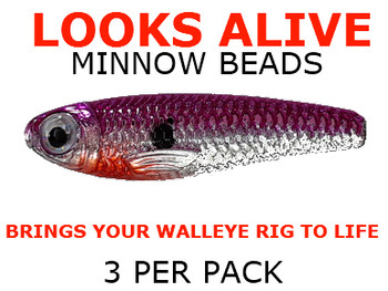 Looks Alive Minnow Beads CHROME PINK SHAD