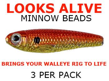 Looks Alive Minnow Beads GOLD/ORANGE METALLIC SHAD