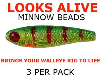 Looks Alive Minnow Beads METALLIC ANTIFREEZE PERCH