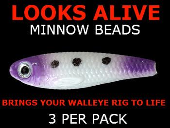 Looks Alive Minnow Beads WHITE/PURPLE MAGIC