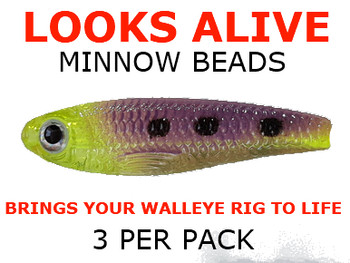 Looks Alive Minnow Beads TRANS. CHART/PURPLE MAGIC