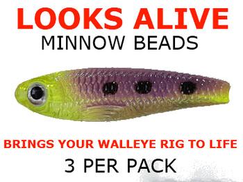Looks Alive Minnow Beads TRANS. CHART/PURPLE MAGIC
