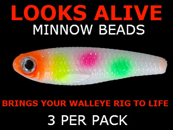 Looks Alive Minnow Beads COTTON CANDY