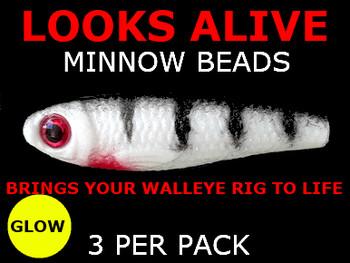 Looks Alive Minnow Beads ALBINO GLOW TIGER
