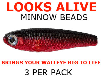 Looks Alive Minnow fishing lure Beads METALLIC RED SHINER
