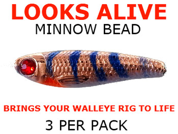 Looks Alive Minnow Beads COPPER ARTIC MINNOW