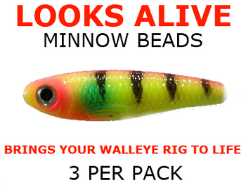 Looks Alive Minnow Beads CHARTREUSE PSYCHO PERCH