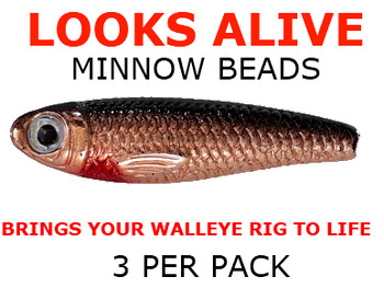 Looks Alive Minnow Beads COPPER SHINER MINNOW