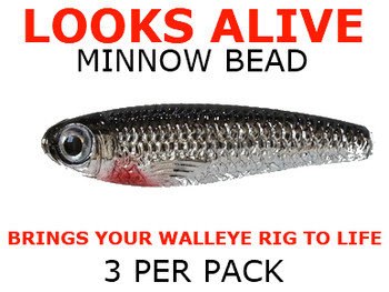 Looks Alive Minnow Beads SILVER SHINER MINNOW