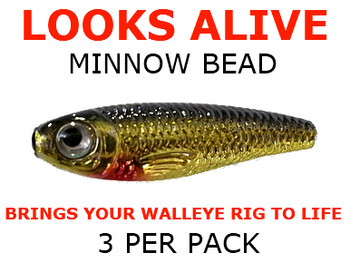 Looks Alive Minnow Beads GOLD SHINER MINNOW