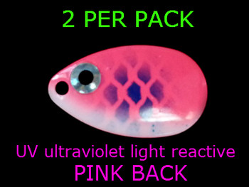 INDIANA blades #4 UV for walleye spinners