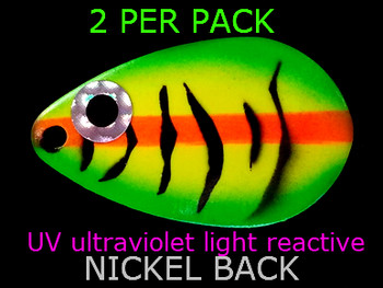 indiana blades #5 UV great for walleye lindy spinner rigs