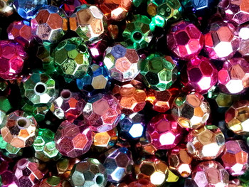 Fishing Beads Faceted 8mm ASSORTED METALLICS