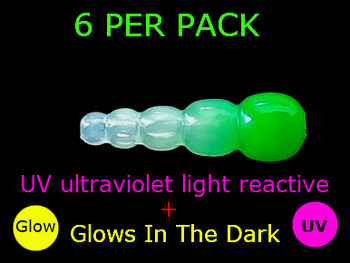 UV REACTIVE STACK BEADS GLOW/GREEN