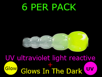 UV REACTIVE STACK BEADS GLOW/CHARTRUESE