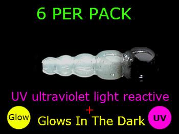 UV REACTIVE STACK BEADS GLOW/BLACK