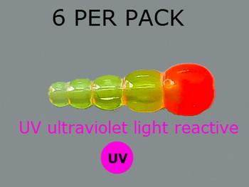 UV REACTIVE STACK BEADS TRANS.CHART/ORANGE