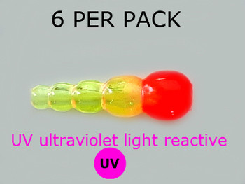UV REACTIVE STACK BEADS TRANS.CHART/RED