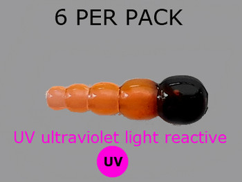 UV REACTIVE STACK BEADS TRANS.ORANGE/BLACK