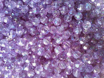 Beads 6mm Faceted TRANS.PURPLE AB