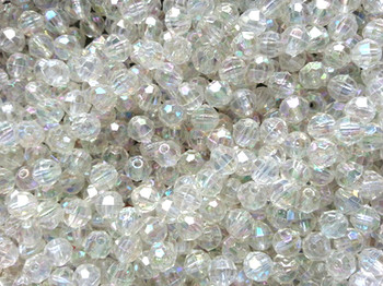Beads 6mm Faceted CRYSTAL AB