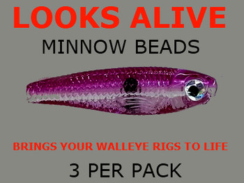 Looks Alive Minnow Beads Electric Raspberry