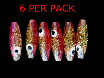 Gold Sparkle Minnow beads Raspberry Ghost