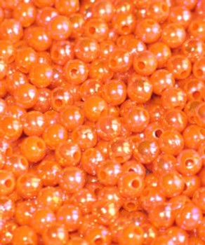 JT custom tackle 6mm Pearl Blaze Orange Bead 100/PK