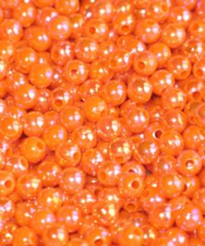 JT custom tackle 6mm Pearl Blaze Orange Bead 100/PK
