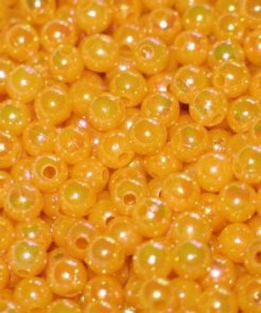 Fishing Lure Beads JT custom tackle 6mm Pearlized Butterscotch Beads 100/PK