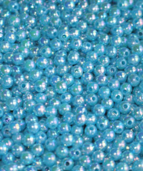 Fishing Beads JT Custom Tackle 6mm Pearlized Sky Blue Bead 100/PK