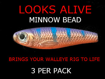 walleye spinner components Looks Alive Minnow Beads COPPER KILLER PERCH