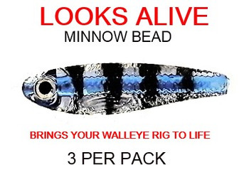 Looks Alive Minnow Beads CLEAR BLUE LINE PERCH